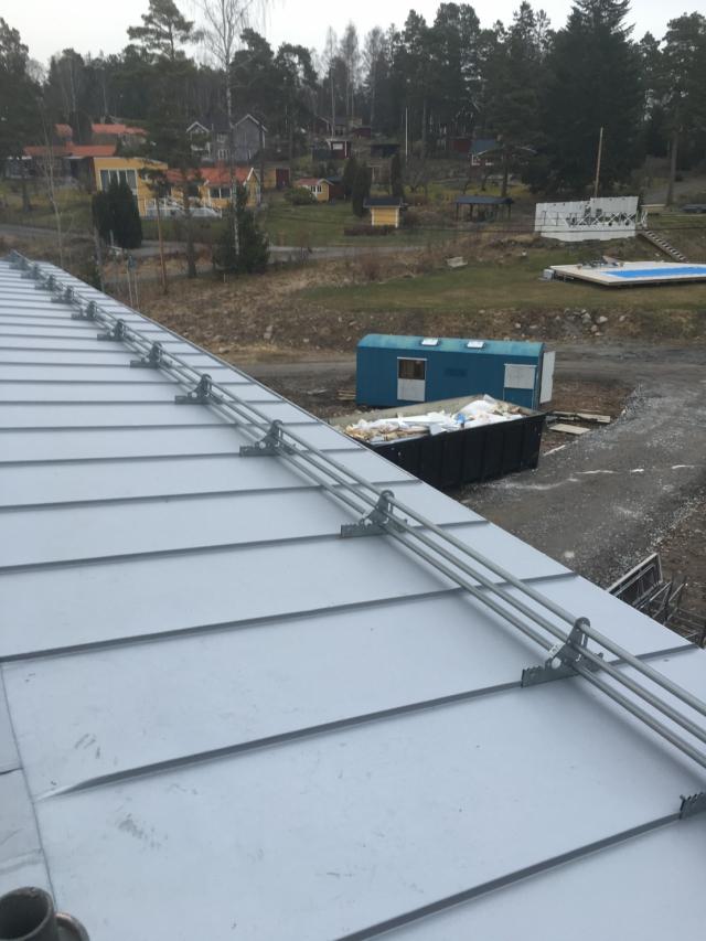 Snörasskydd på bandtäckning i Mälby